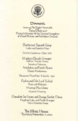 WhiteHouse Menu
